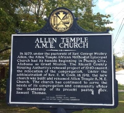 Allen Temple A.M.E. Church Marker image. Click for full size.