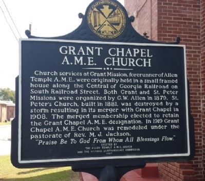 Grant Chapel A.M.E. Church Marker image. Click for full size.