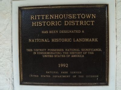 Rittenhousetown Historic District Marker image. Click for full size.