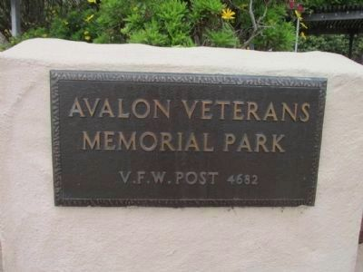 Avalon Veterans Memorial Park Marker image. Click for full size.