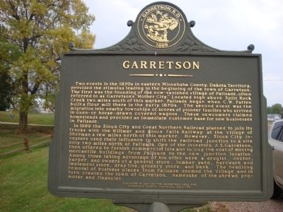 Garretson Marker (Side One) image. Click for full size.