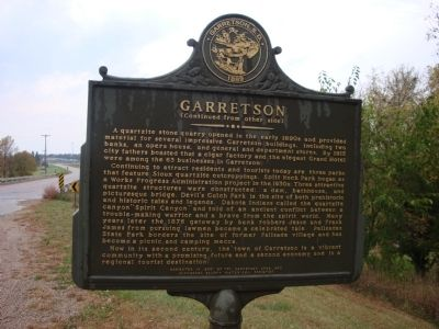 Garretson Marker (Side 2) image. Click for full size.