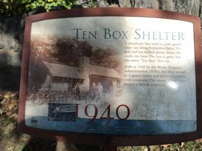 Ten Box Shelter Marker image. Click for full size.