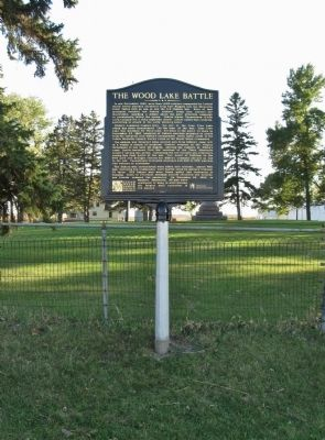 The Wood Lake Battle Marker image. Click for full size.