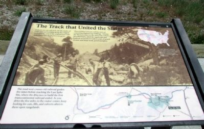 The Track that United the States Marker image. Click for full size.