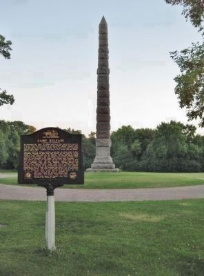 Marker and Camp Release State Monument image. Click for full size.