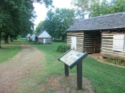 Slave Cabins Marker image. Click for full size.