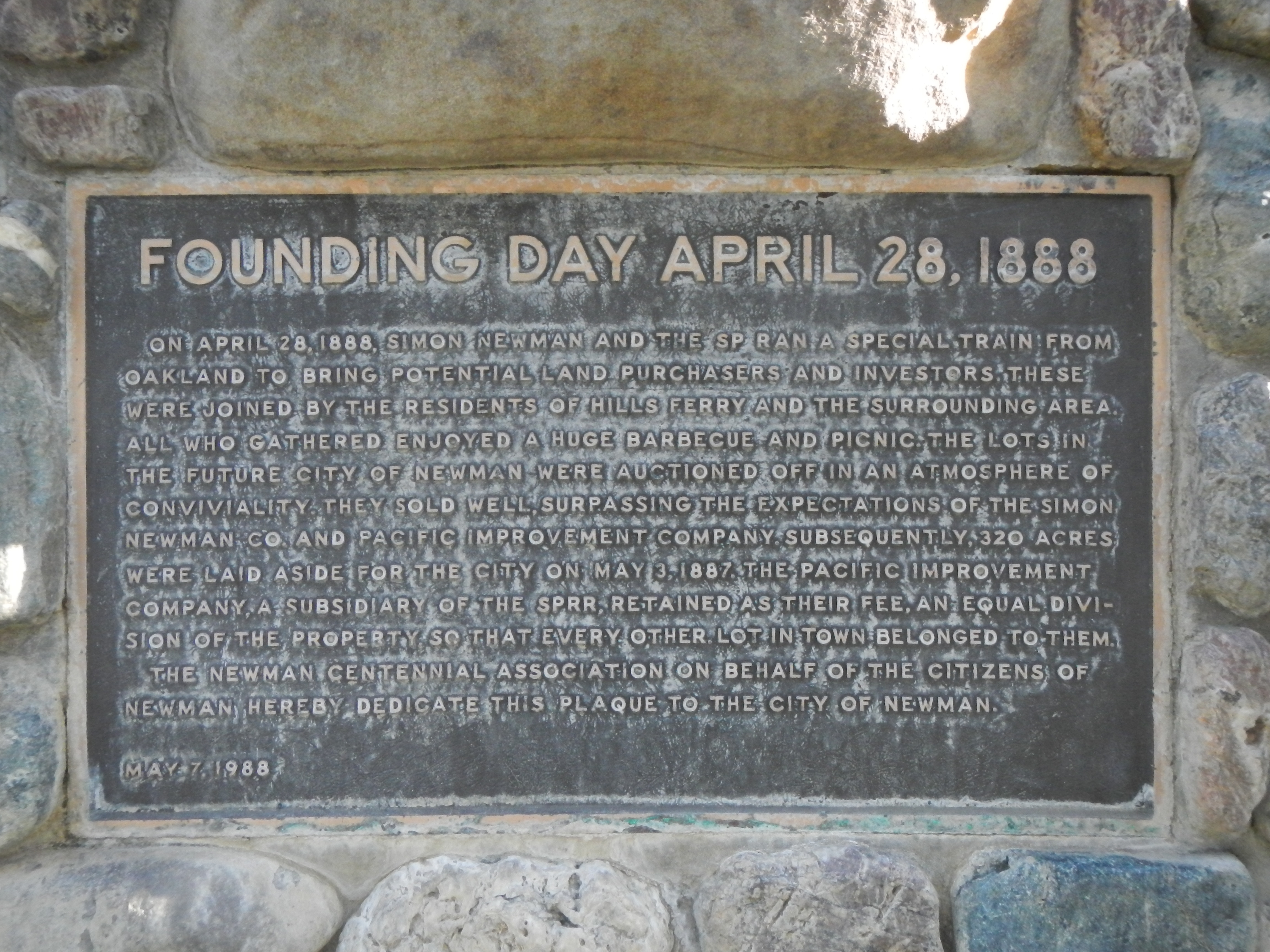 Founding Day April 28, 1888 Marker