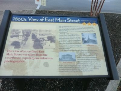 1860s View of East Main Street Marker image. Click for full size.