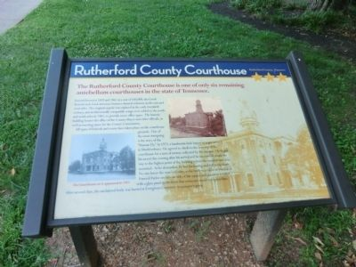 Rutherford County Courthouse Marker image. Click for full size.