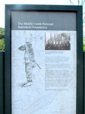 The Middle Creek National Battlefield Foundation Marker image. Click for full size.