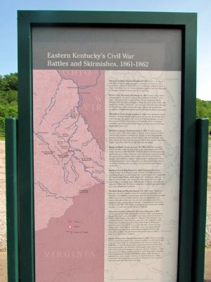 Eastern Kentucky's Civil War Battles and Skirmishes, 1861-1862 Marker image. Click for full size.