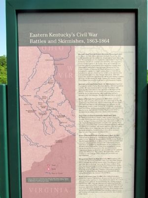 Eastern Kentucky's Civil War Battles and Skirmishes, 1863-1864 Marker image. Click for full size.