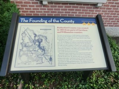 The Founding of the County Marker image. Click for full size.
