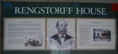 Rengstorff House Marker image. Click for full size.