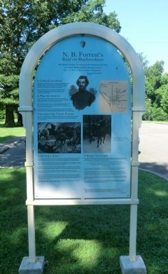 N. B. Forrest's Raid on Murfreesboro Marker image. Click for full size.