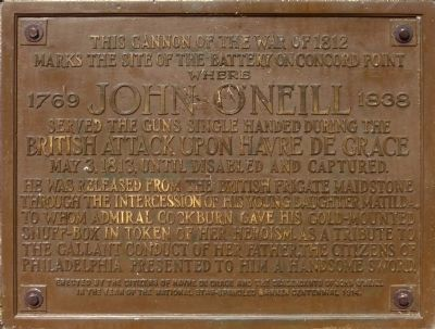 John O'Neill Cannon Monument image. Click for full size.