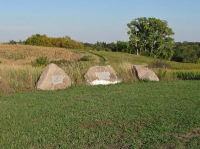 Boulders at Wood Lake Battlefield image. Click for full size.