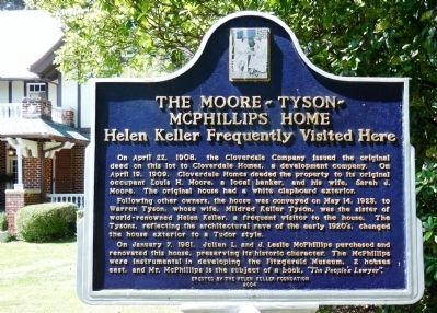 The Moore-Tyson-McPhillips Home marker image. Click for full size.