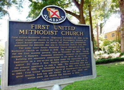 First United Methodist Church marker image. Click for full size.