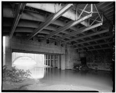 Dunlap's Creek Bridge From Below, 1983 image. Click for full size.