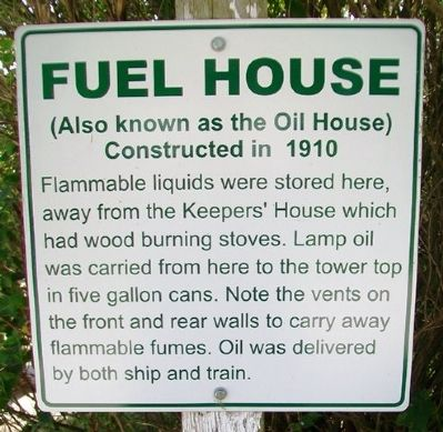 Fuel House Marker image. Click for full size.