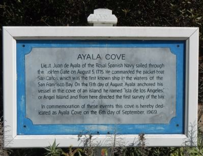 Ayala Cove Marker image. Click for full size.