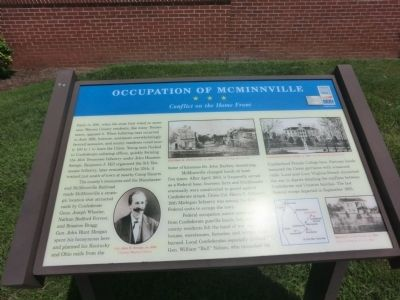 Occupation of McMinnville Marker image. Click for full size.