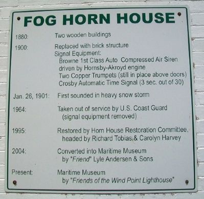 Fog Horn House Marker image. Click for full size.