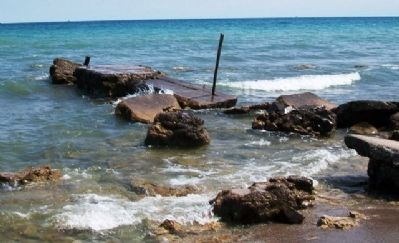 Pier Remnants at Wind Point image. Click for full size.