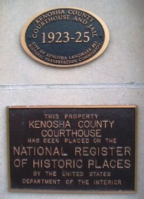 Kenosha County Courthouse Markers image. Click for full size.