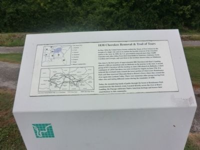 1838 Cherokee Removal & Trail of Tears Marker image. Click for full size.