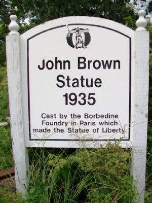 John Brown Statue Marker image. Click for full size.