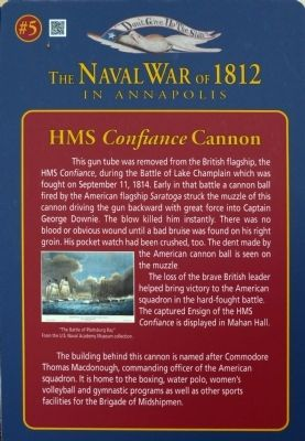 HMS <i>Confiance</i> Cannon Marker image. Click for full size.