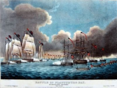 Battle of Plattsburg Bay<br>Macdonough&#39;s Victory image. Click for full size.