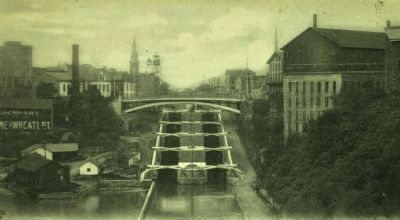The Lockport Locks (1905) image. Click for full size.