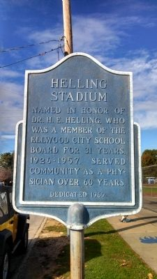 Helling Stadium Marker image. Click for full size.