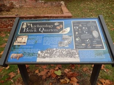 Archaeology at the Brick Quarters Marker image. Click for full size.