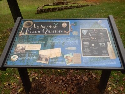 Archaeology at the Frame Quarters Marker image. Click for full size.