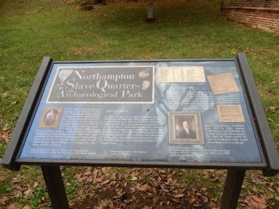 Northampton Slave Quarters and Archaeological Park Marker image. Click for full size.