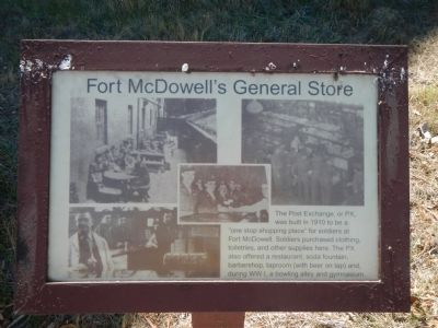 Fort McDowell's General Store Marker image. Click for full size.