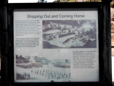 Shipping Out and Coming Home Marker image. Click for full size.