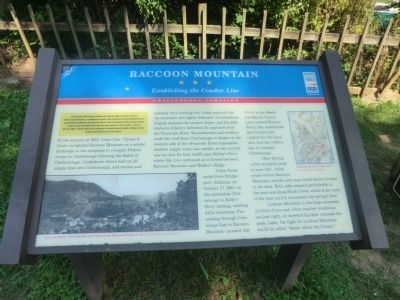 Raccoon Mountain Marker image. Click for full size.
