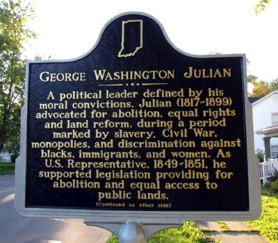 George Washington Julian Marker image. Click for full size.