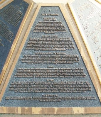 The B-29 Memorial Panel 1 Marker image. Click for full size.