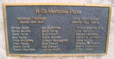 The B-29 Memorial Committee Marker image. Click for full size.