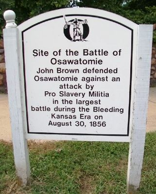 Site of the Battle of Osawatomie Marker image. Click for full size.