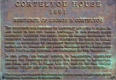 Cortelyou House Marker image. Click for full size.