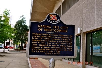 Naming the City of Montgomery Marker image. Click for full size.
