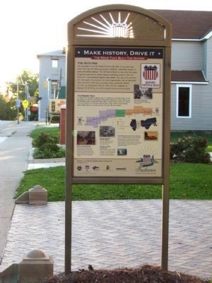 Historic National Road /<br>Make History, Drive It Marker image. Click for full size.